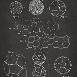 Soccer Ball Construction Artwork - Gray by Nikki Marie Smith