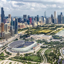 Soldier Field And Chicago Skyline by Adam Romanowicz
