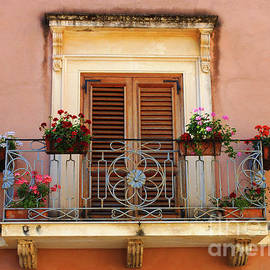 Sorrento Italy Balcony by Bob Christopher