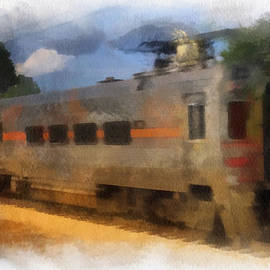 South Shore Train Photo Art 01 by Thomas Woolworth