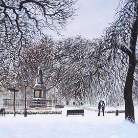 Southampton Watts Park In The Snow by Martin Davey
