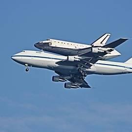 Space Shuttle Atlantis Piggybacked on 747