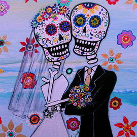 Pristine Cartera Turkus - Special Day Dia De Los Muertos Wedding