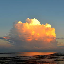 Spectacular Cloud in Sunset Sky by Carla Parris