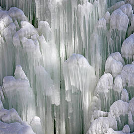 Spectacular Ice Fountain In Letchworth State Park - 5 by Tom Doud