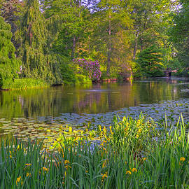 Spring Morning At Mount Auburn Cemetery by Ken Stampfer