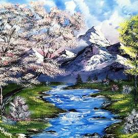 Alfred Stringer - Spring Blossoms