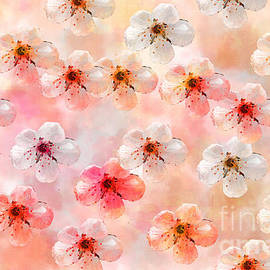 Spring Flowers Abstract 5 by Debbie Portwood