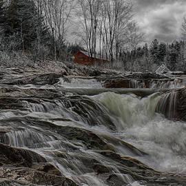 Spring torrent under the bridge by Jeff Folger