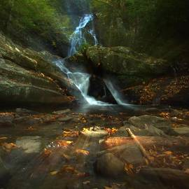 Spruce Flats Falls In October by Dan Sproul