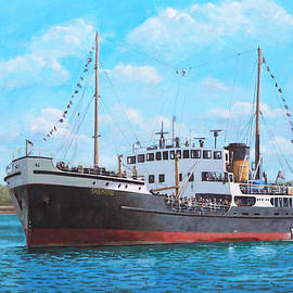 SS Shieldhall on a cruise in the Solent