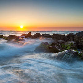 St. Augustine Fl Beach Sunrise - The Morning After by Dave Allen