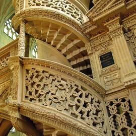 St. Etienne Staircase in Paris by Mary Ellen Mueller Legault