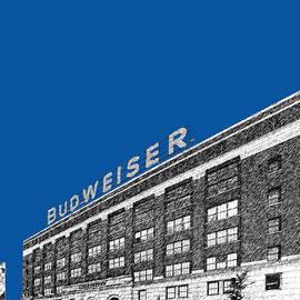St Louis Skyline Budweiser Brewery - Royal Blue by DB Artist