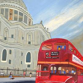Magdalena Frohnsdorff - St. Paul Cathedral and London bus
