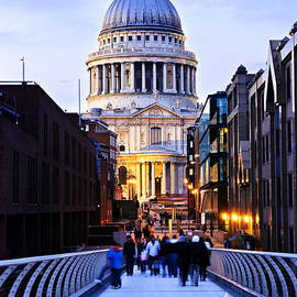 St. Paul's Cathedral London At Dusk by Elena Elisseeva