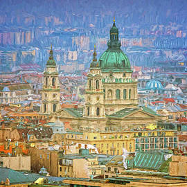 St Stephen's Basilica from Gellert Hill Painterly