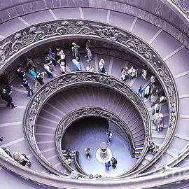 Stairway in Vatican Museum by Stefano Senise