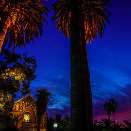 Stanford University Memorial Church At Sunset by Scott McGuire