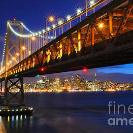 Starbursts over San Francisco by Tom Schwabel