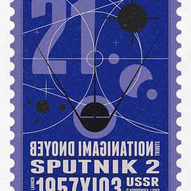 Starschips 21- poststamp - Sputnik 2 by Chungkong Art
