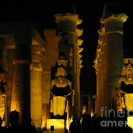 Statues at Luxor Temple by Lorita Montgomery