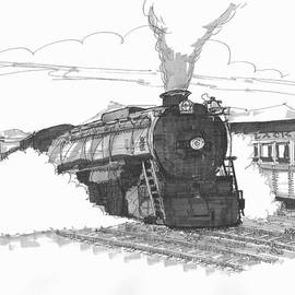 Steam Town Scranton Locomotive by Richard Wambach