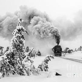 Christian Spiller - Steam train on Brocken mountain