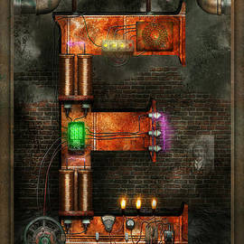 Mike Savad - Steampunk - Alphabet - E is for Electricity