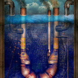 Mike Savad - Steampunk - Alphabet - U is for Underwater Utopia