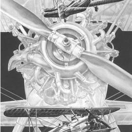Stearman - Vintage Biplane Aviation Art by Kelli Swan
