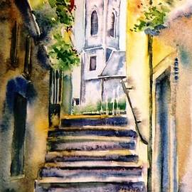 Steps to Saint Marys Church Kilkenny by Trudi Doyle