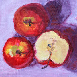 Still Life Kitchen Apple Painting by Nancy Merkle