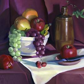 Still Life with Apples by Nancy Griswold