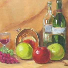 Still Life with Copper Colander and Fruit by Jean Costa