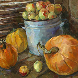 Still life with pumpkins by Juliya Zhukova