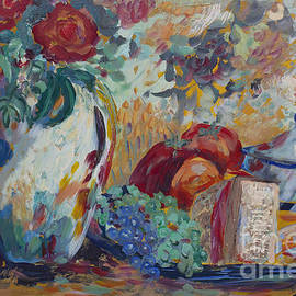 Still Life with Roses by Avonelle Kelsey