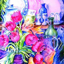 Still Life with Tulips  by Trudi Doyle