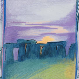 First Star Art - Stonehenge blue by jrr