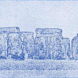 Stonehenge Blueprint by Kaleidoscopik Photography