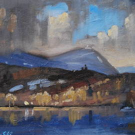 Storm Over Pontoosuc Lake by Len Stomski