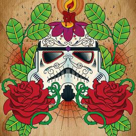 Storm Trooper Sugar Skull by Samuel Whitton