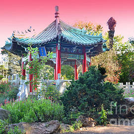 Stow Lake Pagoda in Golden Gate Park in San Francisco by Jim Fitzpatrick
