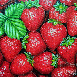 Drinka Mercep - Strawberries Painting Oil on Canvas