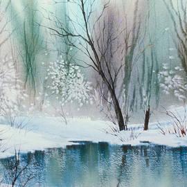 Stream Cove in Winter by Teresa Ascone