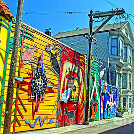 Street Art in the Mission District of San Francisco II by Jim Fitzpatrick