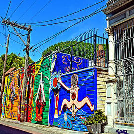 Street Art in the Mission District of San Francisco IV by Jim Fitzpatrick