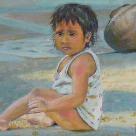 Street child in New Delhi by Barbara Jacquin