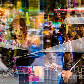 Rene Triay Photography - Street Confusion On the Streets of Barcelona- Double Exposure