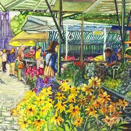 Carol Wisniewski - Watercolor Munster Germany Street Market